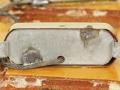 Guyatone LG 50 detail open body en onderzijde halselement.