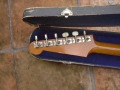 Vox LG40 Shadow Guitar 1959 gebouwd door Guyatone, headstock met stem mechanieken.