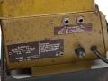 Guild label Echorec 2 T6FA 6 knops met Black Plexi front 1961. Zijkant met typeplaatje, Power, spanning, zekering en aarding. Bovenin footswitch selectie echo direct of uitstervend uit. Geen voltageselector.