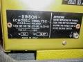 Binson Echorec T5E 6 knops Gold Plexi front 1957 op originele kofferplaat. Typeplaatje.