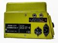Sound City Echomaster 2 , zijkant met voltageselector en typeplaatje.