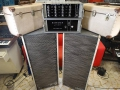 Binson 1969 Pre Mixer Echo P.A. 602-M en Power amp P.O. 601-M 100 watt 1969 combinatie met originele speakers en koffers.