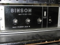 Binson Power amp P.O. 601-200, 200 watt, front.