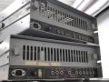 Binson buizen, back. Boven een Pre-Mixer P.A. 602-6, Black Plexi 1969. Onder een 100 watt Poweramp P.O. 601.