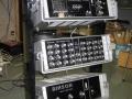 Binson rack 1969 met P.E. 603-T echo, 8 kanaals Pre mixer P.A. 602-8 en 200 watt Poweramp P.P.601-200 in standaard.