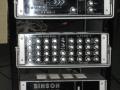 Binson rack 1969 met P.E. 603-T echo, 8 kanaals Pre mixer P.A. 602-8 en 200 watt Poweramp P.P.601-200.