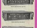 Folder Binson amps A608-609 TR transistor serie, voorzijde.