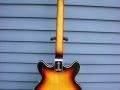 Burns Baldwin Archtop 706V Sunburst 1967, back.
