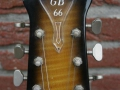 Burns Baldwin GB66 DeLuxe Golden Sunburst, headstock front.