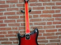 Burns Baldwin Nu-Sonic 6 string gitaar red Sunburst 1967, back.