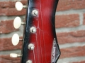 Burns Baldwin Nu-Sonic 6 string gitaar red Sunburst 1967, headstock front.