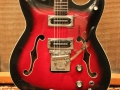 Burns Baldwin Vibra Slim 6 string 1965, Redburst, body. Baldwin no. 548-549.