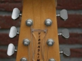 Burns Baldwin Vibra Slim 6 string in Natural Sunburst, 1965, headstock front.