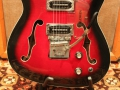 Burns Baldwin Vibra Slim 6 string in Redburst, 1965, Rez O tube tremolo.
