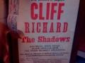 Affiche 1971 optreden Cliff, Marvin, Welch & Farrar, Olivia Newton John en het Brian Bennett orkest in Antwerpen Belgie.