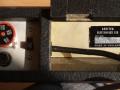 Fender Soundette Disk Echo, fabrikaat Arbiter UK, typeplaatje.