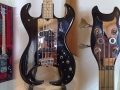 Burns Black Scorpion 4 string Bass 1979, details.