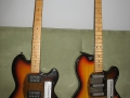 Haymann 1010 (rechts) en 3030 (links) 6 strings 1970-1971.