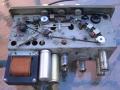 Klemt Echolette echo NG4 1959 binnenwerk met 3 opname- en 2 weergavekoppen, EF86, 2xECC81, ECC83 buizen.