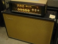 Echolette Showstar Gitaartop S40 uit 1963, 32 watt met buizen 3xECC808 preamp en 2xEL34 eindtrap. Piggy back met ET 100 cabinet 1964.