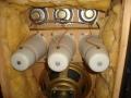 Echolette 60 watt speakerbox LE 5 uit 1969, 2x12 inch Isophon speakers PA30/A90 en 3 middentonen en 3 hoge tonen tweeters, detail.