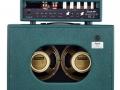 (New) Echolette MK1 stack, 35 watt top met half open back op 212 cabinet met 2x 12 inch Celestion G12M-65 Creamback speakers.
