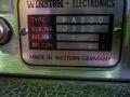 Winston PA200 hybride zangversterker, by Echolette, typeplaatje.