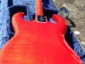 Burns Bison 1964 met 3 pickups in Trans Red finish, back in originale case.