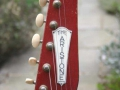 Burns Sonic 1960 headstock met Aristone label en van Gent tuners.