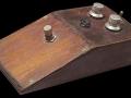 Tone-Bender houten Prototype van Gary Hurst, werkplaats in de Vox Macaris shop aan de Charing Cross Road.