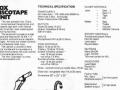 Vox Discotheque -Discotape Unit, technische specificaties in VSL catalogus 1971.
