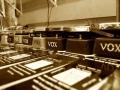 Vox pedalen assortiment op testbank.