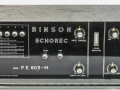 Binson Echorec P.E. 603-M, transistor 1971, 4 replay buttons. 1 tone-control, 1 input, front.