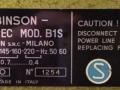 Binson Echorec B1S 4 knops 1960 typeplaatje.