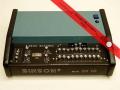 Binson Echorec EC-10 transistor 1975 open. 10 weergaveheads. 10 playback en 10 feedback buttons, 1 tone-control, 3 inputs.