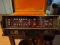 Binson A-606-TR6 met Guild label, transistor 1972, 6 weergavekoppen, 6 playback en 6 feedback buttons, 1 tone-control, 3 inputs, front op originele koffer.
