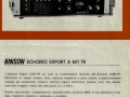 Folder Binson Export A601-TR transistor echo, voorzijde.
