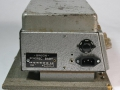Binson Echorec Baby, zijkant met typeplaatje, voltage-selector en gemoderniseerde geaarde Euro aansluiting.