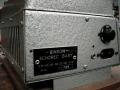 Binson Echorec Baby, zijkant met typeplaatje, voltage-selector en originele niet geaarde 2 polige aansluiting.