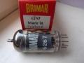 Brimar 6267 (=EF86), pentode-triode voor preamp van vroege Vox AC2, AC4, AC10-3, AC15-2 en 3 en AC30-4 versterkers. Made in England.
