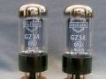 Mullard GZ34 (=5AR4) White print gelijkrichtbuis (rectifier) voor Vox AC30-100 t-m ca 1969, Made in Great Britain.