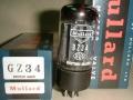 Mullard GZ34 (=5AR4) White print gelijkrichtbuis (rectifier) voor Vox AC30-100 t-m ca 1969. British made in originele doos.