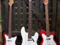 JMI Vox bassen  V204 Bassmaster 1963,  V207 Symphonic 1966 en V203 Clubman 1965.