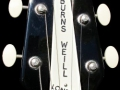 Burns-Weill Super Streamline RP2G 6 string black headstock met van Gent tuners, 1959.