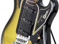 1 van de 3 Originele Burns Marvin Greenburst 1964 gitaren, serienummer 5291, body zijzicht.