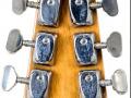 1 van de 3 Originele Burns Marvin Greenburst 1964 gitaren, serienummer 5291, headstock back.