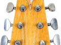 1 van de 3 Originele Burns Marvin Greenburst 1964 gitaren, serienummer 5291, headstock front.