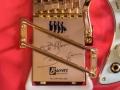 Burns London Custom Shadows Signature Guitar 2005 detail Rezo-Tube Tremolo, enige gitaar met handtekeningen van zowel Hank en Bruce.