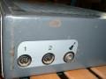 Dynacord Bass-King Grey Silver buizen, overgangsmodel 3 naar silver front 1964, zijkant met 3 inputs.