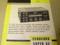 Dynacord buizen Echocord Super S65 1964-1967, manual.